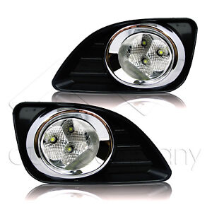 For 2010 2011 Toyota Camry Clear Led Fog Light Bumper Lamps W wiring Kit