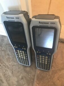 Intermec Ck31 Wireless Mobile Handheld Barcode Scanner With Grip Lot Of 2