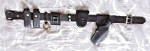 Leather Sam Browne Belt Size 32 Police Security Belt W Multiple Adds