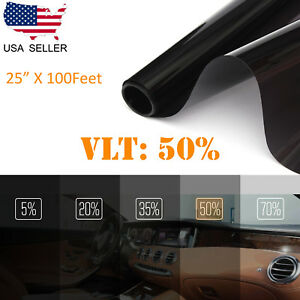 Uncut Window Tint Roll Film 50 Vlt 25 In 100feet Car House Office Commercial