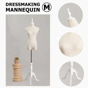 M size Dress Form Female Mannequin Torso Adjustable Dressmaker With Tripod Stand