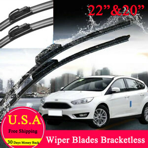 J Hook Windshield Wiper Blades 22 20 Oem Quality Beam All Season Bracketless