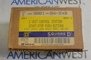 9001 Bw 240 Square D Start Stop Pushbutton 2 Unit Control Station Ser A