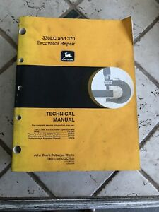 John Deere 330lc And 370 Excavator Repair Technical Manual oct98