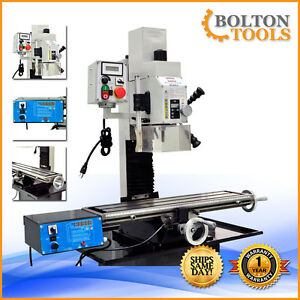 Metalworking Milling Machine 27 1 2 X 7 Variable Speed Mill Drill Power Feed