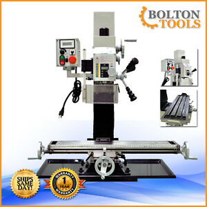 27 1 2 X 7 Variable Speed Mill Drill Metal Working Milling Machine Bf20vl