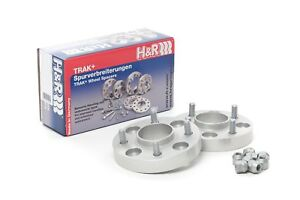 H R 25mm Silver Bolt On Wheel Spacers For 2000 2005 Ford Focus Svt