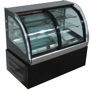 220v Cake Display Case Countertop Bakery Showcase Pie Refrigerated Case Openbox