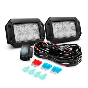 Nilight 2pcs 6inch 18w Led Light Bar With 5pin Switch Harness Kit For Offroad Jk