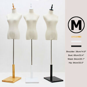 M size Female Mannequin Torso Dress Form Adjustable Dressmaker Display With Base