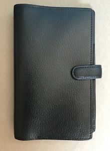 Filofax Finsbury Personel Compact Real Leather Pebbled And Black Lknw