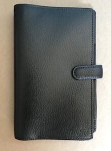 Filofax Finsbury Pocket Organiser Real Leather Pebbled And Black Lknw