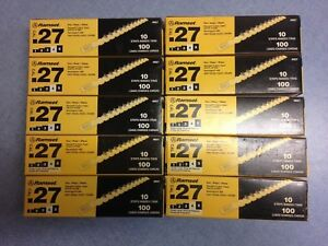 Ramset 0 27 Caliber Yellow Strip Loads 100 count Lot Of 10 Boxes 1000 Loads