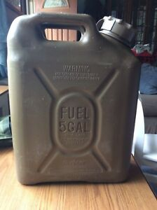 Military 5 Gallon Scepter Fuel Can Jerry Can Diesel Fuel od Green