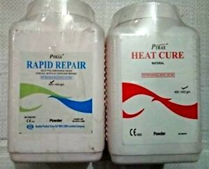 Combo Of Pyrex heat Cure 450g rapid Repair 400g Acrylic Denture Powder