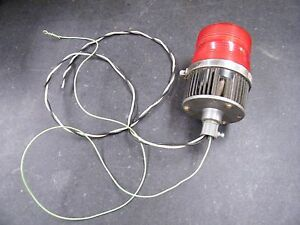 Federal Signal Model Fireball Ii Fb2pst 240v Red Safety Light Strobe Beacon