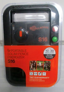 Gallagher S16 Solar 30 Acres 10 Miles Electric Fence Fencer Charger G341414
