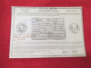 1930 Ford Model A Cp Vintage Car Historical Memorabilla Document