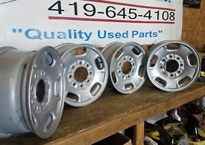 Set 17 Inch 11 18 Gmc Chevy Silverado Sierra 2500 3500 Srw Oem Steel Wheel 8095