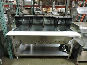 Duke 304 Four Compartment Steam Table W Roll Covers Gas Hose Lp