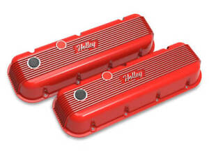 Big Block Chevy Vintage Series Finned Valve Covers Red Finish 241 303