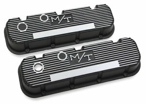 Big Block Chevy Vintage Style M t Finned Valve Covers 241 85