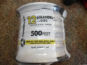 Southwire Building Wire 500 Ft White Stranded Cu Thhn 12 Gauge Soft Copper