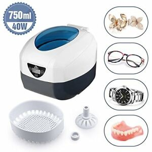 New Pro Large 60 Watts 750ml Ultrasonic Ultrasound Cleaner Jewelry