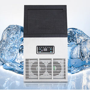 2018 New Commercial Ice Maker Auto Clear Cube Ice Making Machine 50kg 110v