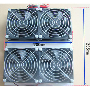 20a Semiconductor Refrigeration Radiator Thermoelectric 4 Cooling Fan Module Q G