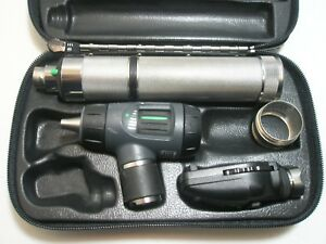 Welch Allyn Diagnostic Set Macroview Otoscope Ophthalmoscope Handle Battery Case