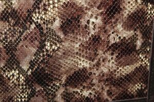 Chocolate Python Snakeskin Embossed Cowhide Leather 2 3 Ring Binder