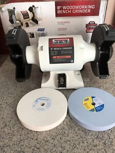 Jet Jwbg 8 8 Ww Bench Grinder With Norton Wheels White