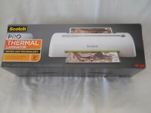 Scotch Pro Thermal Laminator Never Jam Free Technology Prevents Misfeeds Led