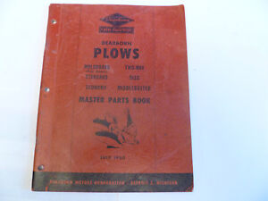 Original Ford Dearborn Plows Moldboard Disc Middlebuster Master Parts Book