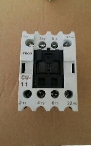 Teco Cu 11 Magnetic Contactor 24a 3 Phase 110v Coil 3a1a N o taian Cn 11