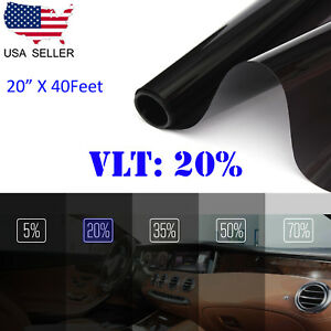 Uncut Window Tint Roll Film 20 Vlt 20 In40ft Car House Office Glass Commercial