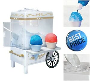 Nostalgia Vintage Snow Cone Maker Retro Design Snowcone Machine