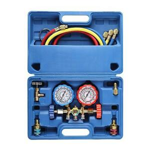 Orionmotortech 3 Way Ac Diagnostic Manifold Gauge Set For Freon Charging Fits R
