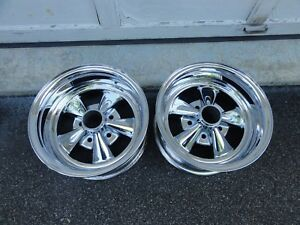 2 Vintage 14x7 Early Style Cragar Ss Wheels Reversed Gm 4 3 4 Bolt Pattern Day 2