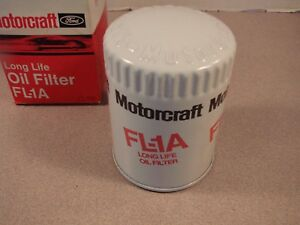 1966 Vintage Ford Oil Filter Fl A1 With Raised Motorcraft Letters