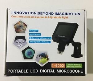 Digital Microscope 4 3 Hd Oled 3 6mp 1 600x Magnifier G600 Lcd 1080p Portable