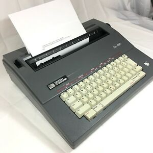 Smith Corona Sl460 Electric Portable Typewriter With Cover Tested