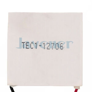 50x50mm 12v 6a Tec1 12706 Heatsink Thermoelectric Cooler Peltier Cooling Plates