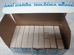 900 Genuine Rolodex Brand C24 2 1 4 X 4 Cards White Strip pak Sealed New