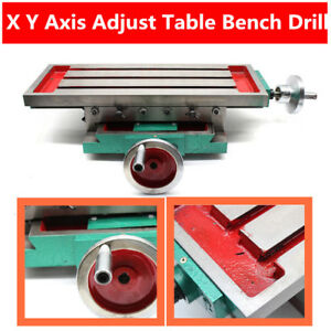 Compound Cross Slide Bench Drill Work Table Press Vise Milling Machine Yullstore