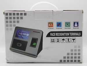 Face Facial Recognition Time Attendance Clock Terminal W Fingerprint Scanner