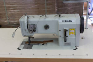 Ludwig Lg 1245 6 01 Compound feed Walking foot Industrial Sewing Machine