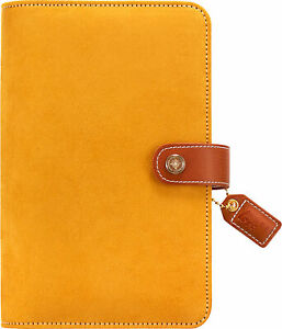 Color Crush Faux Leather Personal Planner Kit 5 25 x8 mustard Suede