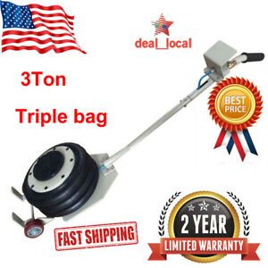 Air Jack Triple Bag Pneumatic Jack 3ton Vehicle Lift Jack Adjustable Car Rescue